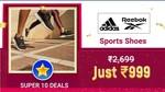 Upcoming Adidas & Reebok Sports Shoes @ 999 + Click & Win
