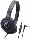Audio-Technica Street Monitoring ATH-S100iSBK Portable Headphone for Smartphone (Black)