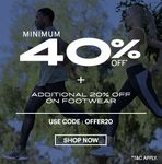 Asics- Minimum 40% +Additional 20% off on Footwear and Accessories