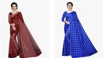 Saree With Blouse Piece & Petticoat Starts From Rs.168