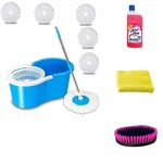 FAKE Seller Alert : Generic 360° Spin Microfiber Mop Bucket with 5 Refill with Wheel to Easy Moving (Medium, Blue) @ 199