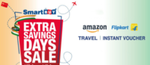 SmartBuy Extra Saving Days Sale brings to you assured Savings with best discounts on Shopping, Travel & all your essentials.(9-11 Nov)