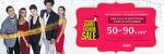 Last Day AJIO Giant Fashion Sale - 50-90% OFF on Branded Fashion