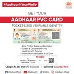 Get your Aadhaar PVC Card at Just Rs. 50/-