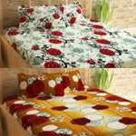 (EXPIRED) (only 1 left) (pack of 2) Story@Home 120 TC Cotton Double Floral Bedsheet