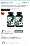 """120 tablets @ 272/- Best Calcium Supplement (Calcium Citrate Malate) by """"""""End2End Nutrition"""""""" 1000mg Elemental Calcium, 800 IU Vitamin D3, 600mg Magnesium, 15mg Zinc per serving of 2 Tablets. Qty- 120 Tablets @272/-"""