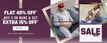 Adidas Sale - Flat 40% Off + Buy 2 or More & Get Extra 15% Off