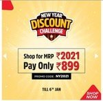 Brand Factory New Year Discount Challenge (Till 6th Jan) | Shop for Rs. 2021 and Pay only Rs. 899