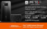 Mi 10i  5G + Flat 2000 via ICICI Bank Cards & EMI