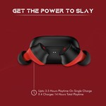 Wings Slay Bluetooth Headset(Red, True Wireless)
