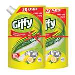 Giffy Lemon & Active Salt Concentrated Dish Wash Gel by Wipro, 900ml(Pack of 2)