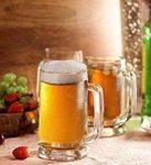 Pasabahce Beer Mug Set, 395ml, Set of 2, Clear
