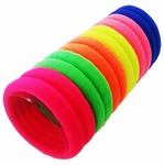 RosePetals ™ Combo of 60 Pcs - Random Color Hair Rubber Bands Multi Bright & Dark Colored Elastic Cotton Stretch Hair Ties Bandsals