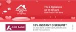 Grand Home Appliances Sale-  TVs & Appliances upto 75% Off + 10% Off with Axis Bank Cards