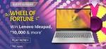 Amazon Wheel of fortune win lenovo IdeaPad, 10000 and more*