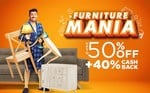 Pepperfry Furniture Mania Sale Upto 50% Off + 40% Cashback