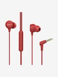 boAt BassHeads 103 T Wired Earphones with Super Extra Bass, Integrated Controls & Mic (Red)