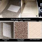 Oshotto/Coozo 7D Custom Fitted Car Floor Mats Compatible with BMW 3 Series (Beige) Set of 3 Pcs