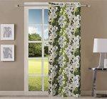 Queenzliving Garden County Curtain, Long Door 9 feet- Pack of 1, Green