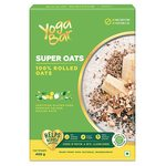 Yogabar 100% Rolled Oats 400g | Premium Golden Rolled Oats, Gluten Free Oats with High Fibre, 100% Whole Grain, Non GMO, No Added Sugar | Ideal Breakfast for Weight Loss