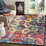 flat 75% off on Status 3D Printed Vintage Persian Carpet Rug Runner for Bedroom/Living Area/Home with Anti Slip Backing (4X 6 Feet-Medium, Multi)-Pack of 1
