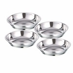 Sorabh HPP 6 Stainless Steel Halwa Plate Bowl/Katori for Serving Dish 24g Plain Thickness 0.50mm,Set of 18)