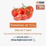 Tomato at ₹1 At BigBazaar