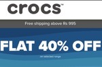 Crocs Flat 40% Off On Selected Products