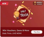 Flipkart Daily Trivia - Answers for 9th April 2021 - win gems