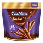 [Pantry]: Candyman Fantastik Mini Treats, Choco Wafer Rolls, Chocolate, 200g