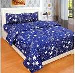 SACHIN ENTERPRISES Double BEDSHEET with 2 Pillow Covers Cotton