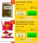 Dealshare : 500gm *2 Indian Raisins (1KG Kismis ) At Only 214 + 15% Extra Discount On First Order