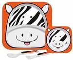 Cello Melmoware Kids Meal Set of 4, Zebra Design