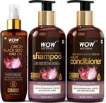 WOW SKIN SCIENCE Red Onion Black Seed Oil Ultimate Hair Care Kit (Shampoo + Hair Conditioner + Hair Oil)  (3 Items in the set)