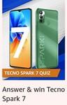 Tecno Spark 7 Quiz Answer And Win Tecno Spark 9