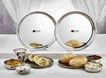 Butterfly Stainless Steel Premium Tiffin Set, Tableware, 14 Pieces, Silver