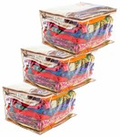 Fun Homes 3 Pieces Transparent Fabric Saree Cover/Clothes Organiser for Wardrobe Set, Extra Large (Golden)