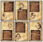 Dr. Abdul Kalam Inspirational Motivational Self Adhesive Wall Posters for Home & Office Decor (Paper, 12x18-inch, Brown) - Set of 6 @ 149/-