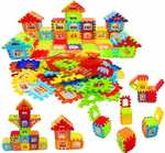 jvm Multi Colored 72 Pcs Mega Jumbo Happy Home House Building Blocks with Attractive Windows and Smooth Rounded Edges - Building Blocks for Kids  (Multicolor)