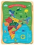 Webby India Map in Malayalam Wooden Jigsaw Puzzle, 40Pcs