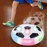 Chocozone Powered Pneumatic Suspended Hover Soccer Ball/Disc with Foam Bumpers and Colorful LED Lights Size 4 Football/Soccer Ball for Kids