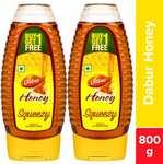Dabur Honey Squeezy  (800 g, Pack of 2)@218