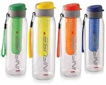 Cello Infuse Plastic Water Bottle Set, 800ml, Set of 4, Assorted
