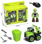 Price Drop MTG Metro Toys & Gift Disassembling DIY Unbreakable Toys for Kids 3+ Year Old Boys & Girls with Safe Screwdriver City Cleaning Trucks (Model of Truck May Vary)