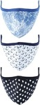 LIFE by Shoppers Stop Boys Double Layered Breathable Protective Mask - Pack of 3 (9-14Y, Assorted)