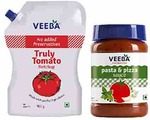 Veeba Truly Tomato Ketchup - No Added preservatives, 900g and Pasta-Pizza, 280g - Pack of 2