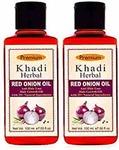 Khadi Herbal Red Onion Hair Oil 100ml (Pack of 2 )