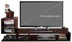 Klaxon L Shape Engineered Wood TV Unit/Display Storage Cabinet Rack with Decor Shelf (Walnut)