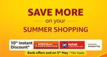 Save More On Summer Shopping - Upto 80% Off + 10% Instant Discount With ICICI & Kotak Bank [Ends 5th May]