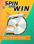 Amazon Pay Travel SPIN AND WIN Rewards UPTO ₹850